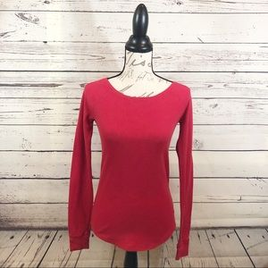 Victoria Secret Pink red thermal sleep shirt.